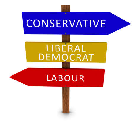 uk: UK Politics Election Sign