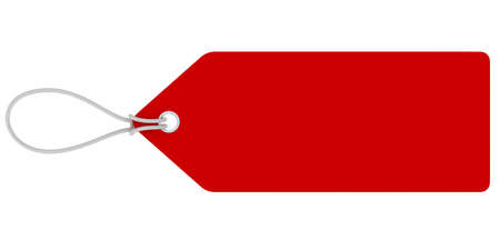 Blank Red Sale Tag