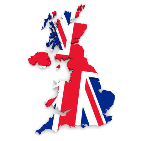 uk map: Union Jack Flag UK Map
