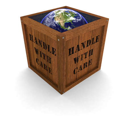 handle with care: Planet Earth in Box - Handle with Care