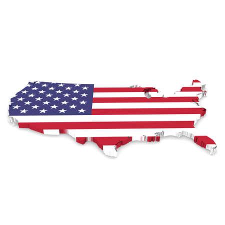 US Flag America map