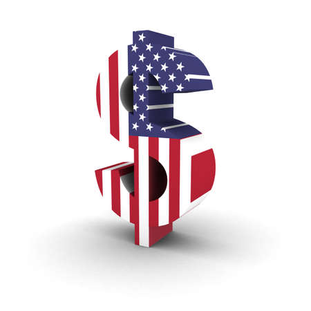 spangled: US Flag Dollar Symbol