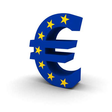 euro symbol: EU Flag Euro Symbol