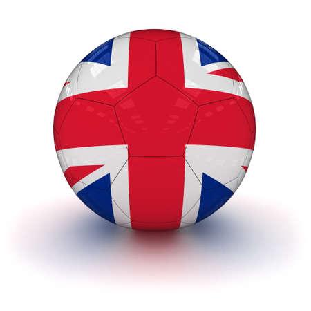 bandera reino unido: Reino Unido Bandera de F�tbol Foto de archivo