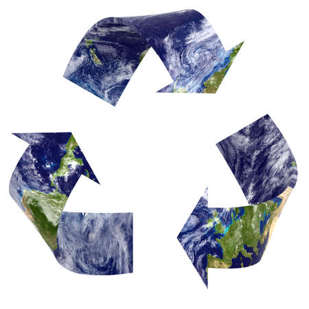 mobius loop: Earth Textured Recycling Symbol