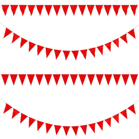 Red Bunting Collection: 3D reflection and flat orthographic