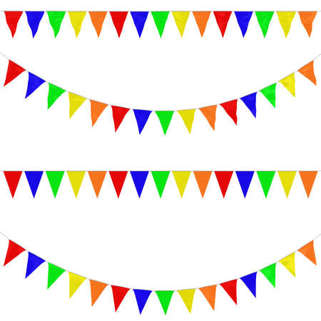 orthographic: Five Colour Bunting Collection: 3D reflection and flat orthographic