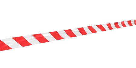 tape line: Red and White Striped Barrier Tape Line at Angle
