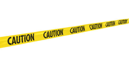 Yellow and Black CAUTION Tape Line at Angle
