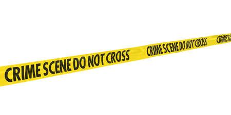 do not cross: Crime Scene Do Not Cross Tape Line at Angle Stock Photo