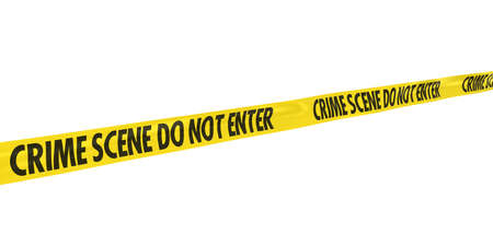 Crime Scene Do Not Enter Tape Line at Angle