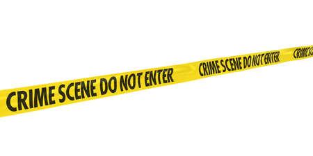 escena del crimen: Escena del crimen de prohibido la entrada de l�nea de cinta en �ngulo Foto de archivo