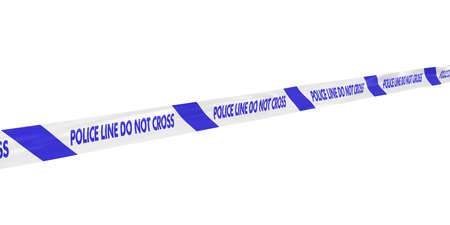 do not cross: Blue and White Police Line Do Not Cross Tape Line at Angle