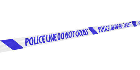 do not cross: Blue and White Police Line Do Not Cross Tape at Angle