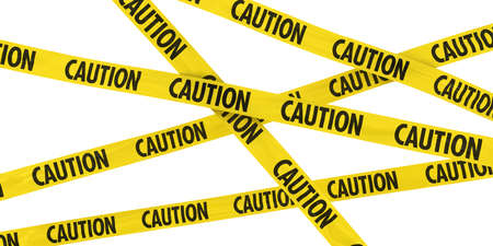 Yellow and Black CAUTION Tape Background