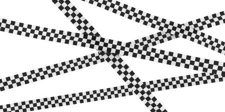 finishing line: Black and White Checkered Finishing Line Tape Background Stock Photo