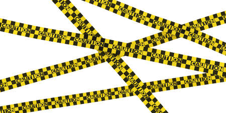 caution tape: Yellow and Black Checkered Caution Tape Background Stock Photo