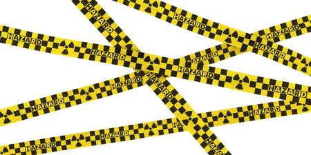 hazard tape: Yellow and Black Checkered Radioactive Hazard Tape Background