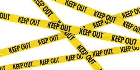 Yellow and Black KEEP OUT Tape Background Imagens - 39506202