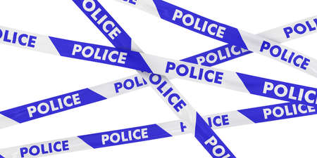 police tape: Blue and White Striped POLICE Tape Background