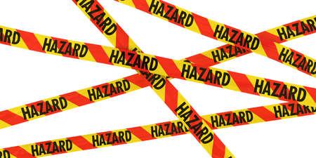 hazard tape: Red and Yellow HAZARD Tape Background