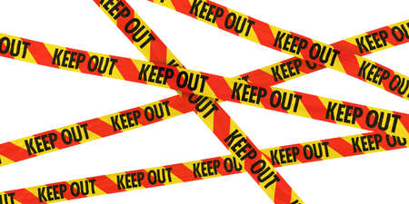 keep out: Red and Yellow KEEP OUT Tape Background