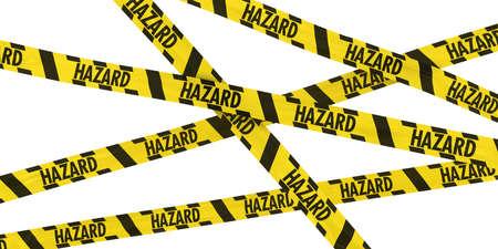 hazard tape: Yellow and Black Striped HAZARD Tape Background Stock Photo