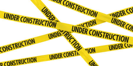 UNDER CONSTRUCTION Tape Background