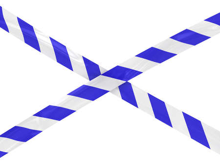 police tape: Blue and White Striped Police Tape Cross