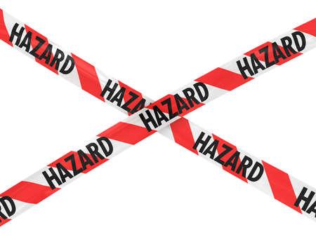 hazard tape: Red and White HAZARD Tape Cross