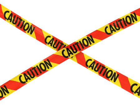 caution tape: Red and Yellow CAUTION Tape Cross Stock Photo