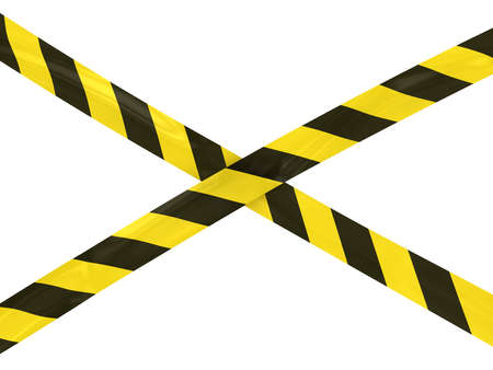 Yellow and Black Striped Hazard Tape Cross
