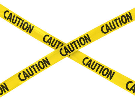 caution tape: Yellow and Black CAUTION Tape Cross