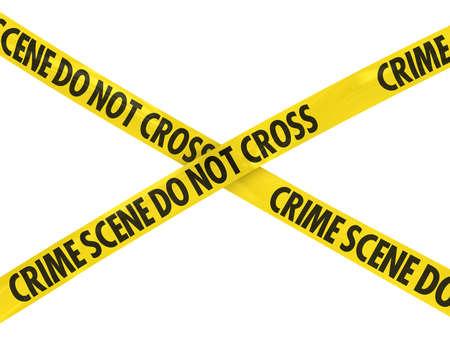 Crime Scene Do Not Cross Tape Cross Imagens - 39505838