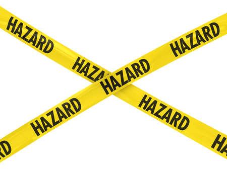hazard tape: Yellow and Black HAZARD Tape Cross
