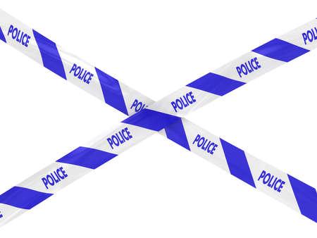 hazard tape: Striped Police Tape Cross