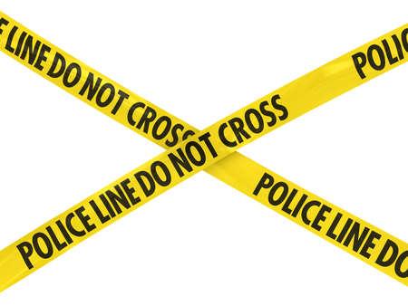 Yellow Police Line Do Not Cross Barrier Tape Cross Imagens - 39505803