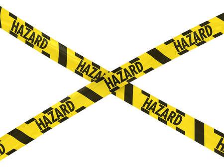 hazard tape: Yellow and Black Striped HAZARD Tape Cross