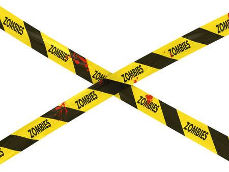 Bloody Zombie Barrier Tape Cross photo