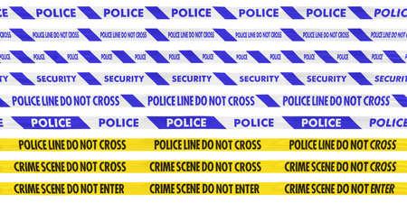crime scene tape: Police and Crime Scene Tape Line Collection