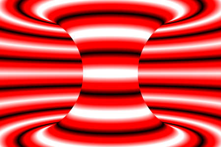 torus: Red and White Striped Torus Psychedelic Abstract Background