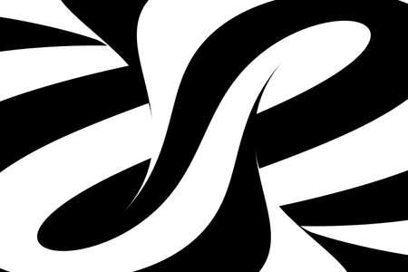 torus: Black and White Swirls Torus Abstract Background