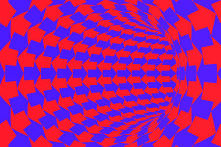 two way: Two Way Communication Concept - Red and Blue Arrows Tunnel Background Stock Photo