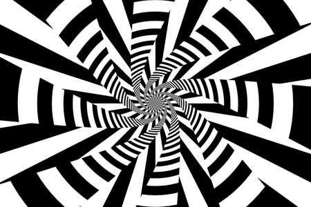 swirling: Black and White Psychedelic Swirling Lines and Stripes Abstract Background Stock Photo