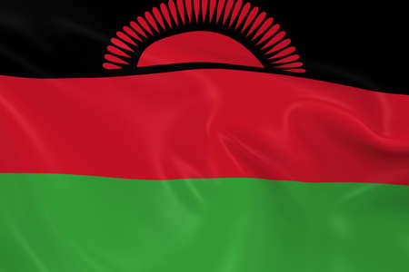 malawian flag: Waving Flag of Malawi - 3D Render of the Malawian Flag with Silky Texture Stock Photo