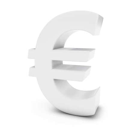 euro symbol: White Euro Symbol Isolated on White Background