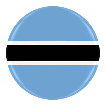 botswanan: Botswanan Flag Badge - Flag of Botswana Button Isolated on White