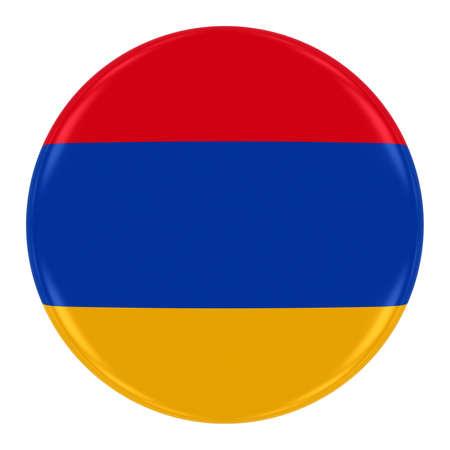 armenian: Armenian Flag Badge - Flag of Armenia Button Isolated on White