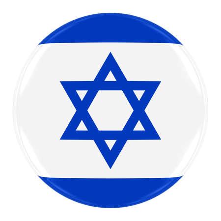 israeli flag: Israeli Flag Badge - Flag of Israel Button Isolated on White