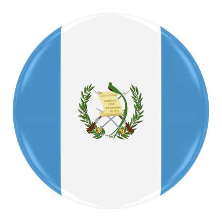 guatemalan: Guatemalan Flag Badge - Flag of Guatemala Button Isolated on White Stock Photo